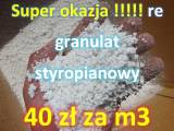 Hit granulat styropianowy 40 zł za 1000 litrów
