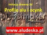 Aludeska , profile aluminiowe , profile stalowe OCYNKOWANE DREWNOPODOBNE
