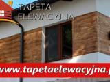 Tapeta elewacyjna - imitacja drewnianych desek na elewacji Twojego domu