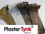 Elastyczne deski elewacyjne PlasterTynk imitacja drewna 3d