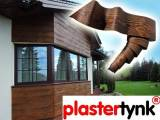 Deska elewacyjna  , elastyczna imitacja drewna - PLASTERTYNK